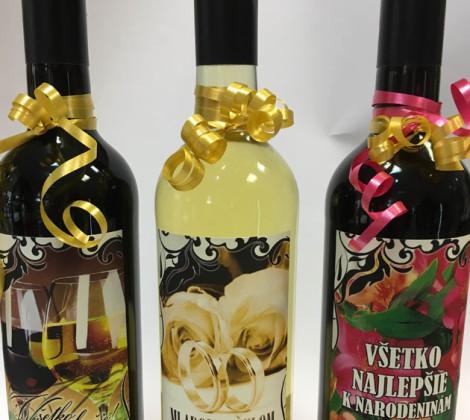 Darčekové víno papierová etiketa 0,75 l
