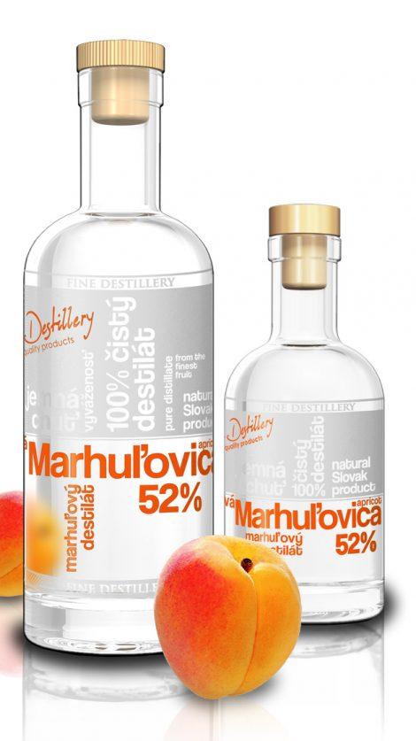 Fine Destillery Marhuľovica exclusive 0,2 l 52%