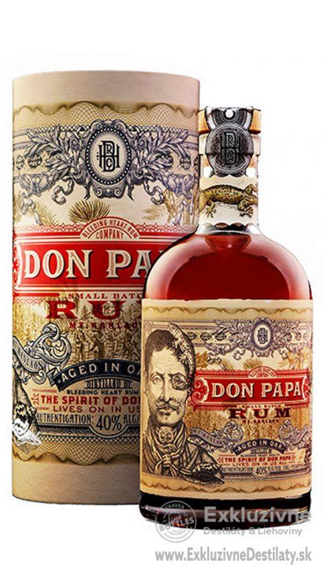 Rum DON PAPA 0,7 l 40% gift