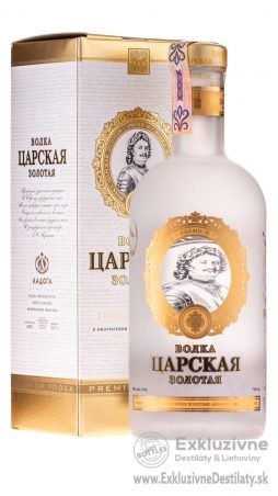 Carskaja Gold vodka 0,7 l 40% gift