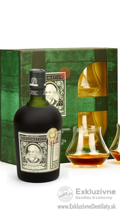 Diplomatico Reserva Exclusiva 12 yo 0,7 l 40% + 2 glasses