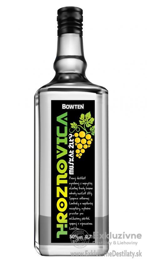 Bowten Hroznovica Muškát žltý 0,7 l 50%