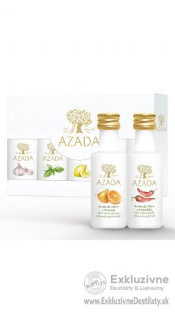 AZADA - Set Ochutených Olejov – Citrón, Pomaranč, Bazalka, Cesnak, Čili