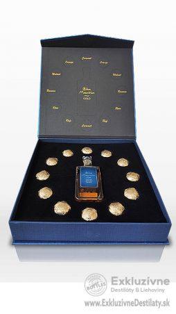 Blue Mauritius Gold rum luxusný darčekový box s pralinkami 0,05 l 40%